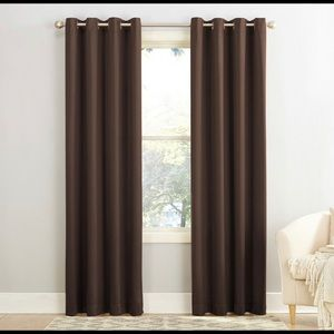 2 Chocolate Colored Curtains